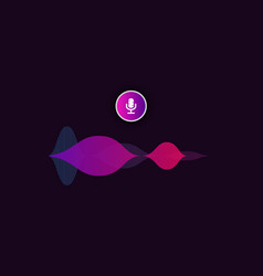 Voice assistant interface vector