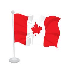 waving flag of canada vector image