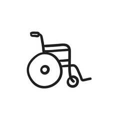 wheelchair sketch icon vector image