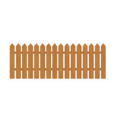 Wooden fence isolated on vector