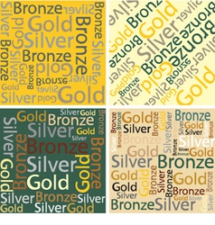 Words of gold silver and bronze vector image