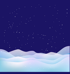 xmas night background snow stars and snowdrifts vector image