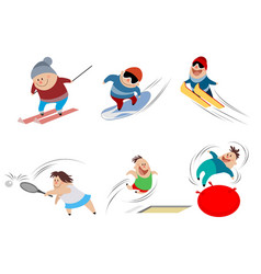 cartoon children in action vector image vector image