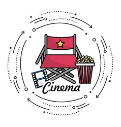 Director seat with cinematography things vector