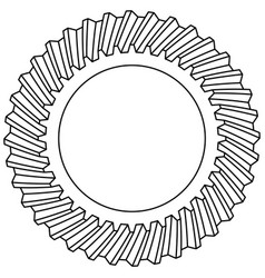 helical gear icon vector image vector image