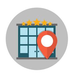 hotel location flat icon vector image vector image