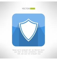 Shield icon made in modern clean and simple flat vector image