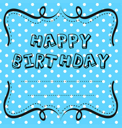 Card template design for birthday vector