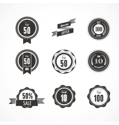 Collection of Premium quality and Labels vector image vector image