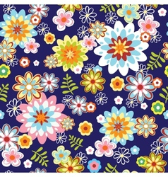 cute abstract seamless floral pattern vector image vector image