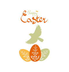 easter background with birds and eggs vector image vector image