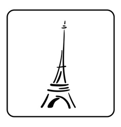 Eiffel Tower in a simple sketch style 1 vector image