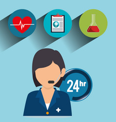 Healthcare professional avatar character vector
