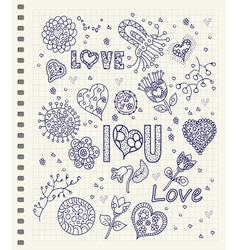 Love lettering vector image