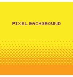 Pixel art style gradient background yellow vector image