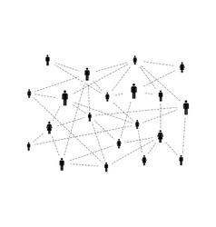 Social network with simple people icons isolated vector image