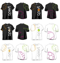 Sport T-shirts Designs Set vector image vector image