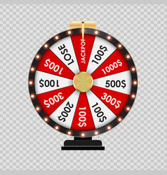 wheel of fortune lucky icon on transparent vector image