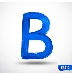 Alphabet Letter B Watercolor Alphabet vector image vector image
