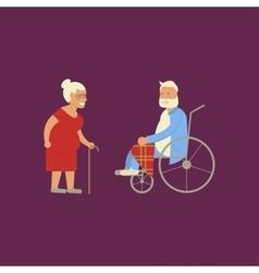 Banner of retired elderly vector