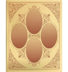 Card design with engraving Organized by layers vector image
