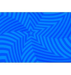 Deep blue twisted stars abstract background vector image vector image
