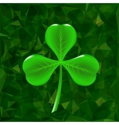Green Clover Leaf Icon vector image