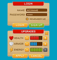 Interface buttons set for games or apps2 vector image vector image