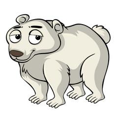 polar bear with sad face vector image
