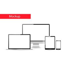 responsive design mockup vector image