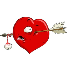 crippled heart vector image vector image