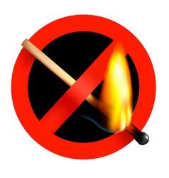 no matchstick fire sign vector image