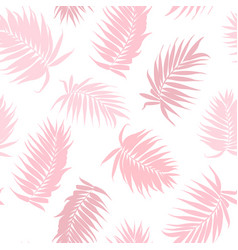 pink camouflage palm tree leaves seamless pattern vector image