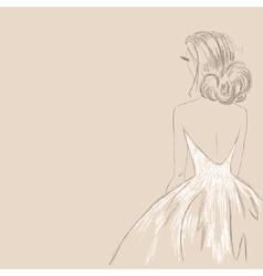 Sketch of the bride vector image