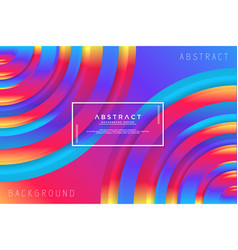 abstract circle colorful background vector image