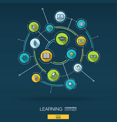 abstract education and learning background vector image