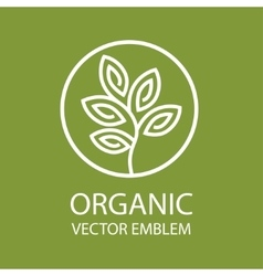 abstract organic emblem outline monogram vector image