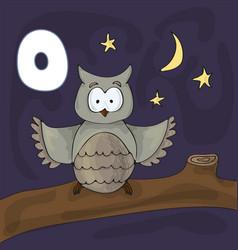 alphabet letter o and owl abc book vector image
