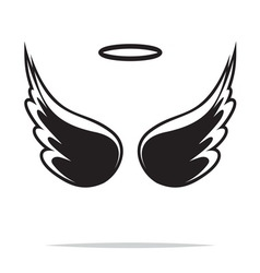 Angel wings icon1 vector