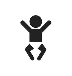 baby icon child flat vector image