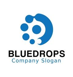 Blue Drops Design vector