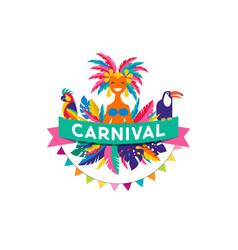Brazilian carnival poster vector