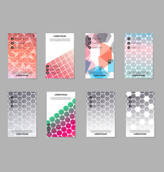 Brochure layout template abstract flyer cover vector