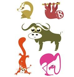 cartoon funny animals 5 vector image