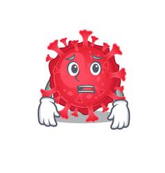 Cartoon picture coronavirus substance showing vector