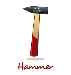 Cartoon smiling hammer tool vector image