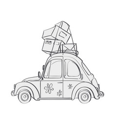 cartoon vehicle vector image