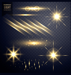 Collection of transparent lens flares light vector