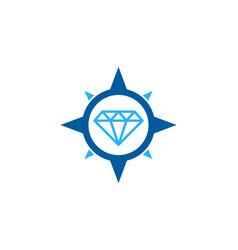 Compass diamond logo icon design vector