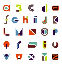 complete icon alphabet vector image